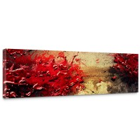 Leinwandbild Paint Splatter Wall abstrakt 3D Wand beige braun Farbspritzer | no. 41