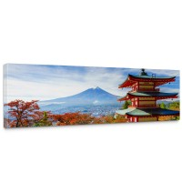 Leinwandbild Japan Tokio Turm Herbst Himmel Ausblick | no. 261