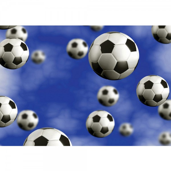 Fototapete Fußball Tapete Fußbälle Himmel Wolken blau   no. 529
