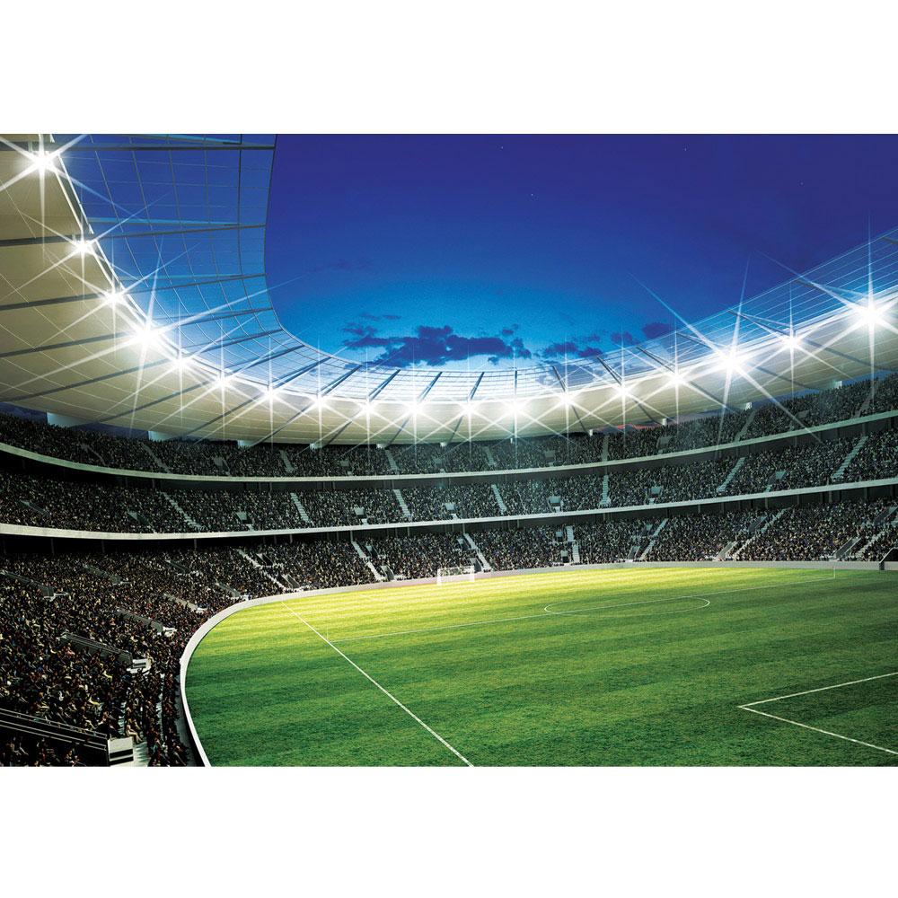 Fototapete Fußball Netz Rasen Licht Stadion bunt weiß liwwing no 431