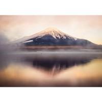 Fototapete Gebirge Tapete Gebirge Himmel Wolken Sonne Wasser schwarz - weiß | no. 262