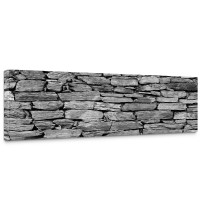Leinwandbild Steinwand Steinoptik Steine Wand Mauer Stein | no. 172