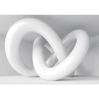 Fototapete Kunst Tapete Abstrakt Schlingen 3D weiß | no. 590
