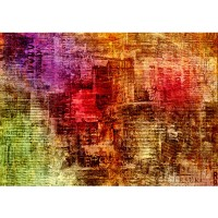Fototapete Grunge abstract Newspaper Kunst Tapete Zeitungsausschnitte alt abstrakt bunt | no. 56