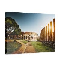 Leinwandbild Colosseum Walk - Rome Rom Kolosseum Italien Landschaft Architektur | no. 52