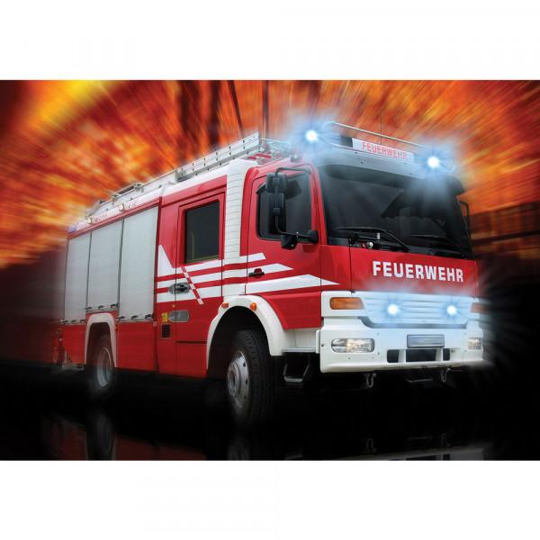 Fototapete Autos Tapete Feuerwehr Feuerwehrauto Auto Blaulicht rot | no. 2242