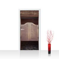 Türtapete - Sonstiges Tür Holz Saloon Schwingtür Alt | no. 4280