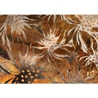 Fototapete Grunge Floral Ornaments Kunst Tapete abstrakt 3D Wand braun Blumen alt deko braun | no. 57