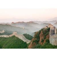 Fototapete China Tapete China Mauer Steine Natur Ausblick grau | no. 251