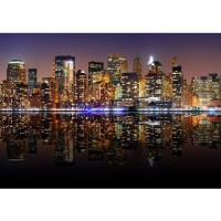 Fototapete New York Lights Skyline USA Tapete New York City USA Amerika Empire State Building Big Apple schwarz | no. 20