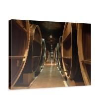 Leinwandbild Old Wine Barrels Weinkeller Weinfäasser Fass Fässer Keller Stollen | no. 58
