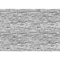 Fototapete Asian Stone Wall Steinwand Tapete Steinwand Steinoptik Stein Steine Wand Wall grau | no. 139