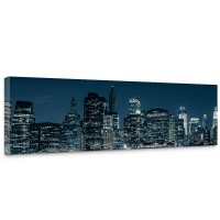 Leinwandbild New York Blue Night Skyline New York City USA Amerika Big Apple | no. 22