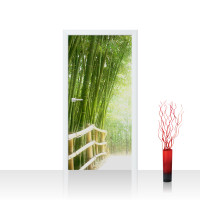 Türtapete - Bamboo Walk Bambusweg Bambuswald Dschungel Asia Asien Bamboo Way Wald | no. 2