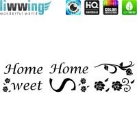 Wandsticker - No. 4841 Wandtattoo Sticker Home Sweet Home Schrift Wörter Spruch Sprüche
