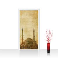 Türtapete - Istanbul Moschee Abstrakt Beige | no. 267