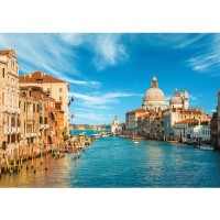 Fototapete Venedig Tapete Venedig Wasser Dom Himmel Häuser Italien blau | no. 444
