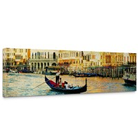 Leinwandbild Venedig Kanal Italien Boot Wasser | no. 240