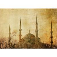 Fototapete Türkei Tapete Istanbul Moschee Abstrakt Beige ocker | no. 267