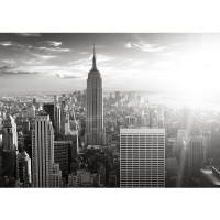 Fototapete Manhattan Skyline USA Tapete New York City Amerika Empire State Building Big Apple schwarz - weiß | no. 15