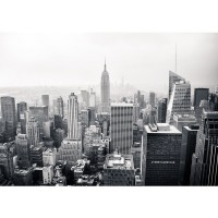 Fototapete Manhattan Skyline USA Tapete New York City Amerika Empire State Building Big Apple schwarz - weiß | no. 118