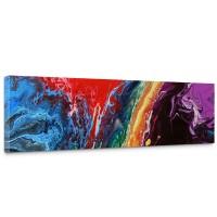 Leinwandbild Rainbow Wall Bunt Abstrakt Hintergrund Dekoration | no. 106