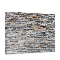 Leinwandbild Steinwand Steinoptik Steine Wand Mauer Stein | no. 164