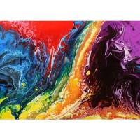 Fototapete Rainbow Wall Kunst Tapete Bunt Abstrakt Hintergrund Dekoration bunt | no. 106