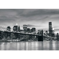 Fototapete New York Tapete New York Bridge Lightning schwarz - weiß | no. 269