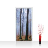 Türtapete - Bäume Wald Laub Nebel | no. 819