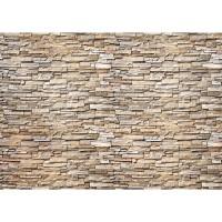 Fototapete Noble Stone Wall - natural - kleinere Steine - anreihbare Tapete Steinwand Steinoptik Wand grau | no. 147