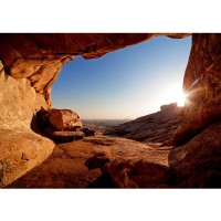 Fototapete View from the Mountain Berge Tapete Berg Landschaft Natur Mesa Arch Canyon Bergwelt Berge ocker | no. 34