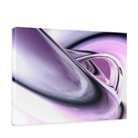 Leinwandbild Purple Climax 3D Digital Art Abstrakt Schwung blau rot lila | no. 9