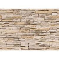 Fototapete Asian Stone Wall - beige - ENDLOS anreihbare Tapete Steinwand Steinoptik Steine Wand Wall beige | no. 129