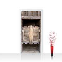 Türtapete - Sonstiges Tür Holz Saloon Schwingtür Alt | no. 4279