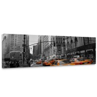 Leinwandbild Manhattan Skyline Taxis City Stadt | no. 194