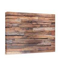 Leinwandbild Holzwand Steinoptik Holz Wand Mauer Holz | no. 174