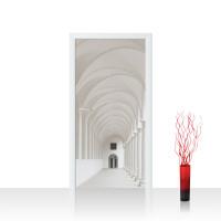 Türtapete - Architektur Gewölbe Säulen Arkade | no. 4298