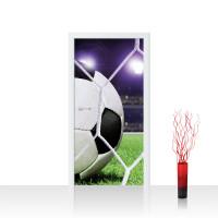 Türtapete - Fußball Netz Rasen Licht | no. 431