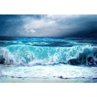 Fototapete Blue Seascape Meer Tapete Ozean Meer Wasser See Welle Sturm Blau Türkis blau | no. 100