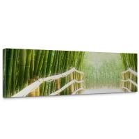 Leinwandbild Bamboo Walk Bambusweg Bambuswald Dschungel Asia Asien Bamboo Way Wald | no. 2