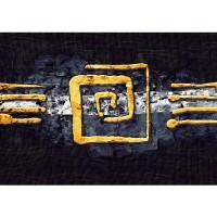 Fototapete Kunst Tapete Abstrakt Ornament Gelb Schwarz Hindergrund gelb | no. 219