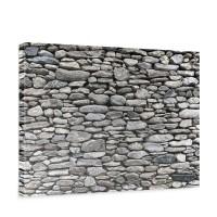 Leinwandbild Rocky Stone Wall Steinwand Steine Wand Wall 3D | no. 72