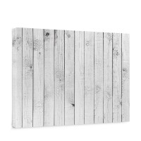 Leinwandbild White painted Wooden Wall Holzoptik Holzwand, Holzpaneel | no. 85