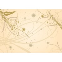 Fototapete Ornamente Tapete Ornamente Beige Natur Pflanzen Abstrakt beige | no. 208
