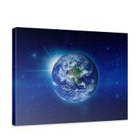 Leinwandbild Erde Weltraum Planet Blau | no. 231
